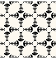 Seamless pattern of fish skeleton vector image