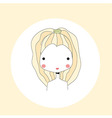 Horoscope Leo sign girl head vector image vector image
