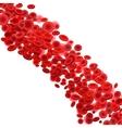 Blood cells flow vector image
