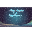 Merry christmas and happy newyear typography vector image
