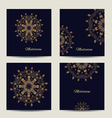Set of square cards or invitations with mandala vector image
