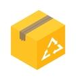 Eco box isometric 3d icon vector image