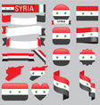syria flags vector image