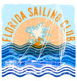 florida sailing club graphic design vector image