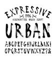 handwritten brush font vector image
