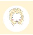 Horoscope Leo sign girl head vector image