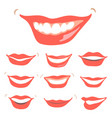 lovely smiles set vector image
