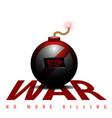 Stop war vector image