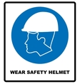 Wear a Safety Helmet Sign vector image