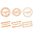 Vitamin B2 stamps vector image vector image