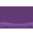 Hills game backgrounds of silhouettes vector image