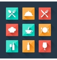 Collection flat icons food and drink for web vector image vector image