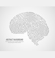 digital human brain with computer circuit board vector image