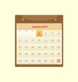 Design schedule monthly january 2014 calendar vector image