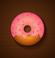 donut pink vector image