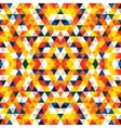 Triangular Mosaic Orange Background vector image