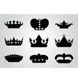 heraldry icons vector image vector image