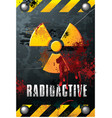 radioactivity plate vector image