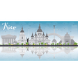 Kiev skyline with grey landmarks vector image