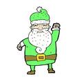 comic cartoon angry santa claus vector image