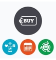 Buy sign icon Online buying Euro button vector image