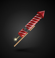 Firework rocket isolated on black background vector image