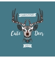 Head of deer with ethnic ornament vector image