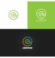 letter E logo alphabet design icon set background vector image