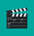 movie slate or clapper board for movie cinema vector image