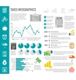 Tax infographics set vector image