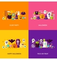 Halloween Party Concepts Set vector image