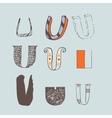 set of colorful alphabet letters U vector image