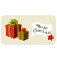 Christmas gifts boxes vector image vector image