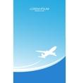 Travel ticket vector image vector image
