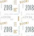 seamless type pattern new year 2018 vector image
