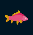 in flat style carp vector image