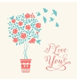 Romantic card vector image vector image