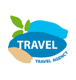 Abstract logo for recreation and travel vector image
