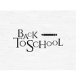 Back to school phrase on white brick wall vector image