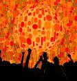 Chic urban nightclub graphic vector image