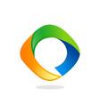 circle abstract technology logo vector image