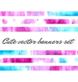 cute watercolor banners vector image