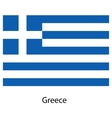 Flag of the country greece vector image
