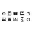 printer icon set simple style vector image