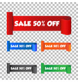 sale 50 off sticker label on isolated background vector image