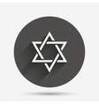 Star of David sign icon Symbol of Israel vector image