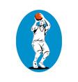 basketball player shooting ball vector image