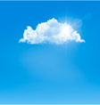 Background with blue sky and a cloud vector image vector image