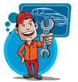 auto mechanic vector image vector image