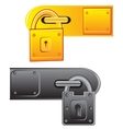 Outboard lock vector image